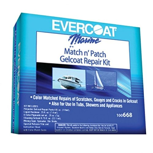 Fiberglass Evercoat Match and Patch Kit (Boat Gel Coat Repair Kit compare prices)