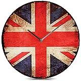 Glas-Wanduhr Vintage Union Jack United Kingdom England Glasuhr 30 cm