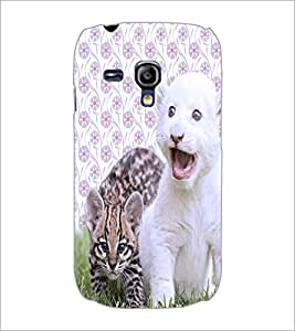 PrintDhaba Cute Kittens D-3881 Back Case Cover for SAMSUNG GALAXY S3 MINI (Multi-Coloured)