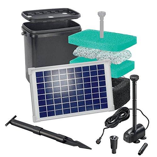 solar teichfilterset starter 610 l h f rderleistung 10 w solarmodul komplettset bis 2000l. Black Bedroom Furniture Sets. Home Design Ideas