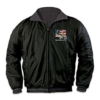 Reversible Motorcycle Fleece Jacket: Ride Hard, Live Free