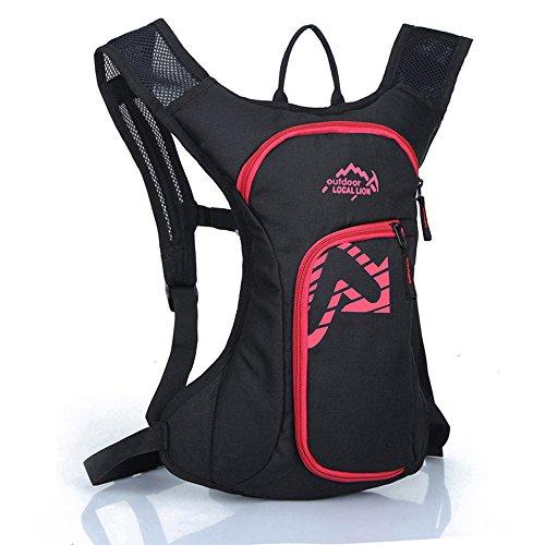 Diamond Candy Zaino da Ciclismo Outdoor Donna e Uomo con Protezione Impermeabile per Escursionismo/Equitazione/Alpinismo/Viaggio/Bici/Bicicletta/Corsa, 12 litri Rosso
