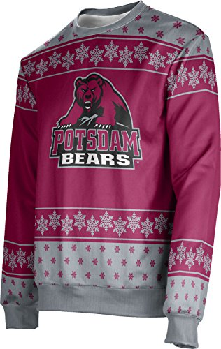 Adult State University of New York at Potsdam Ugly Holiday Snowflake Sweater