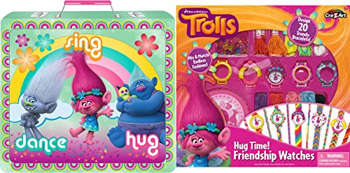 Dreamwork Trolls Deluxe Stationery Toy Set Collection with Hug Time True Color Friendship Watches