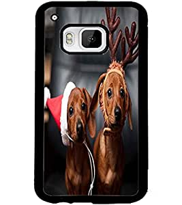 ColourCraft Cute Funny Dogs Design Back Case Cover for HTC ONE M9