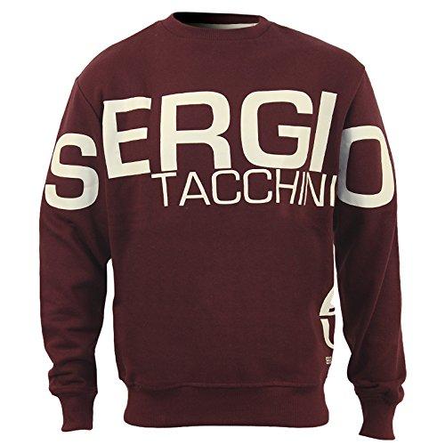 Sergio Tacchini da uomo con cappuccio, con Logo Crew Neck Burgundy XX-Large