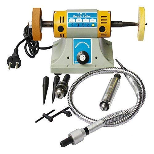 TOPCHANCES 350W 10000r/min Mini Multifunction Jewelry Rock Polishing Buffer Machine Jewelry Grinder Mill Polishing Machine Jewelry Table Bench (220V)(3-5 Business Days Delivery)