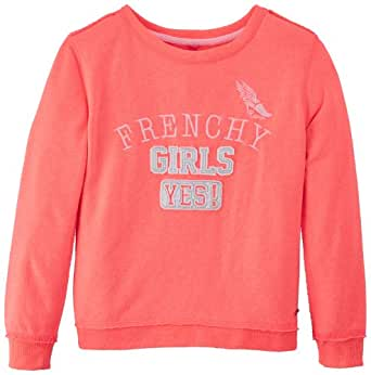 Camps - Sweat-shirt - Uni - Fille - Rose (Rose Fluo) - FR: 8 ans (Taille fabricant: 8)