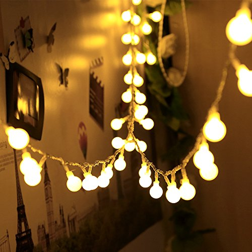 infinitoo-Globe-LED-Lichterkette-10M-100er-Kugel-LED-Lichterkette-Warmwei-Wnderschne-Deko-fr-Weihnachten-Hochzeit-Party-Zuhause-sowie-Garten-Balkon-Terrasse-Fenster-Treppe-Bar-etc