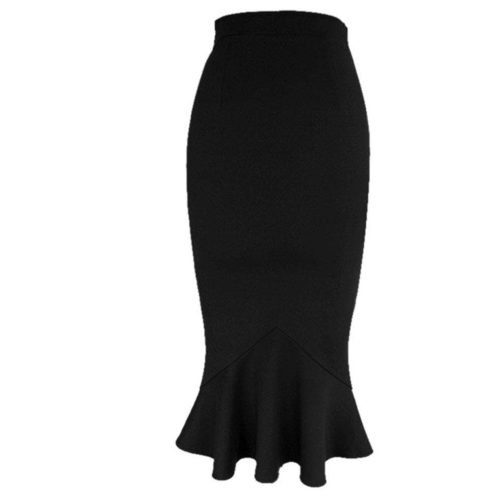 VfEmage Women's Vintage High Waist Wear To Work Bodycon Mermaid Pencil Skirt 1