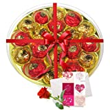 Valentine Chocholik's Luxury Chocolates - Rich Choco Platter With Love Card And Rose