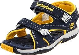 Timberland Mad River 2-Strap Sandal (Toddler/Little Kid/Big Kid),Navy/Mar,4 M US Toddler
