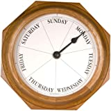 DayClocks 9 Round Classic Clock, Oak