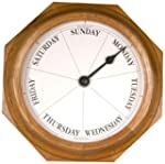 DayClocks 9 Round Classic Clock, Oak