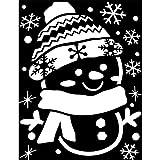 クリスマススノースプレー用型紙A2サイズスノースノーマンWG-4787