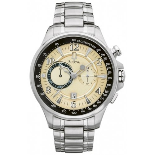 Bulova Men's 96B140 Silver Stainless-Steel Quartz Watch with Beige Dial