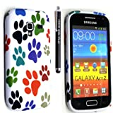 FOR SAMSUNG GALAXY ACE 2 i8160 PRINTED SILICONE GEL SKIN PROTECTION CASE COVER + STYLUS GSDSTYLEYOURMOBILE{TM} (Multi Dog Cat Paw Foot)