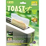 Set of 2 NoStick Toast It Toaster Bags