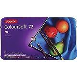 Derwent Colorsoft Pencils, 4mm Core, Metal Tin, 72 Count (0701029)