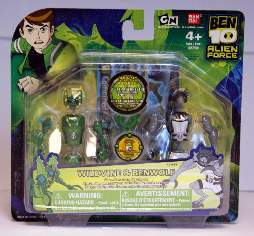 Picture of Bandai Ben 10 (Ten) Alien Creation Chamber Mini Figure 2-Pack Wildvine and Benwolf (B001G119YI) (Ben 10 Action Figures)
