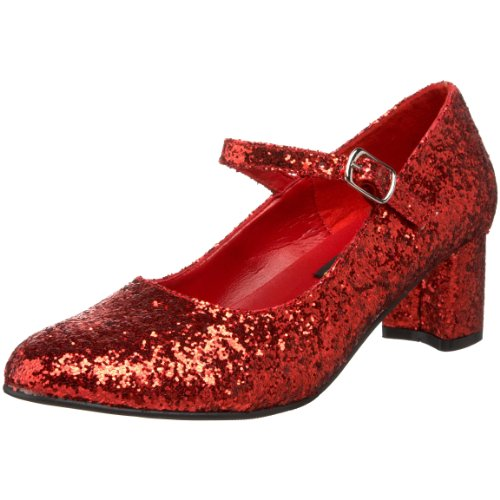 Ruby Red Mary Jane Glitter Shoe