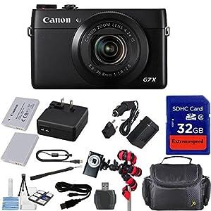 Canon PowerShot G7 X Digital Camera - Wi-Fi Enabled + 12pc Bundle - International Version