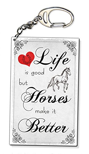 life-is-good-horses-make-it-better-vintage-horse-lover-gift-keyring-bag-charm