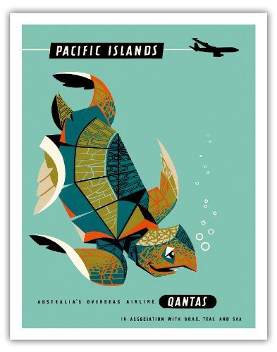 pazifik-inseln-qantas-airways-grune-meeresschildkrote-alte-hawaiianischer-reise-plakat-poster-von-ha