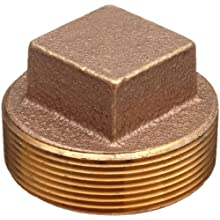 Lead Free Brass Pipe Fitting, Square Head Cored Plug, Class 125, NPT Male
