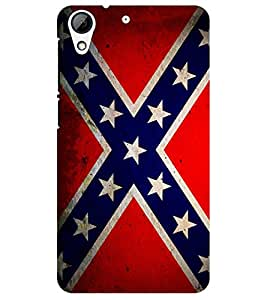 Chiraiyaa Designer Printed Premium Back Cover Case for HTC Desire 728 (flag) (Multicolor)