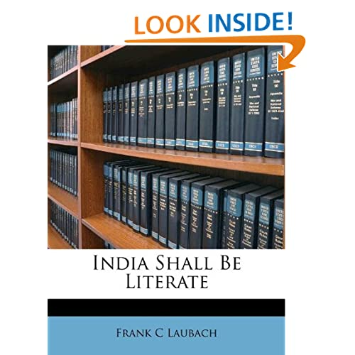 India Shall Be Literate Frank C Laubach