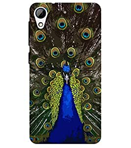 Chiraiyaa Designer Printed Premium Back Cover Case for HTC Desire 626 (Beautiful Peacock) (Multicolor)