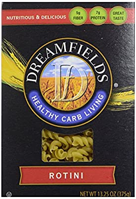 Dreamfields Pasta Healthy Carb Living, Rotini, 13.25Ounce Boxes by Dreamfields Pasta