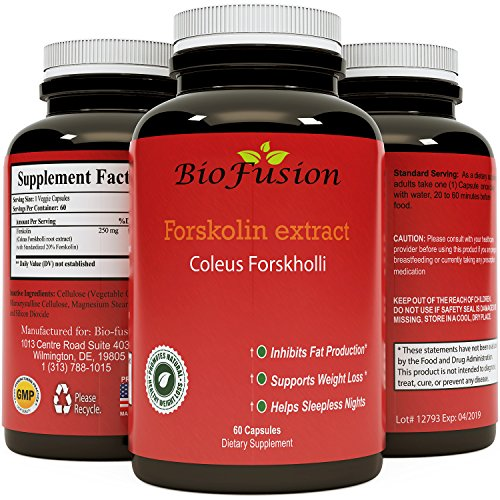 Forskolin for Weight Loss Pure Forskolin Extract Maximum Strength Belly Buster & Fat Burner Appetite Suppressant Metabolism Booster Antioxidant with Polyphenols Increase Energy (60 Capsules)