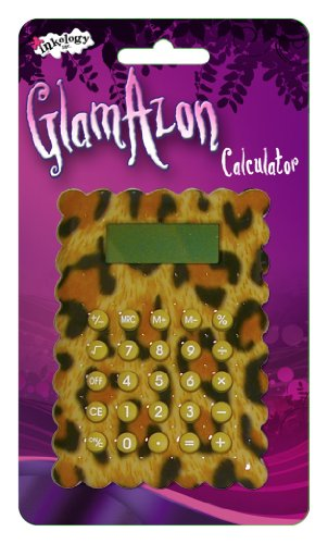Inkology GlamAzon Calculator, Single Item, Animal Print May Vary (871-2)