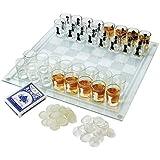 Maxam 3-in-1 Shot Glass Chess Set - SPCHESS2