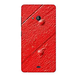 Red Texture Wood Print Back Case Cover for Lumia 540