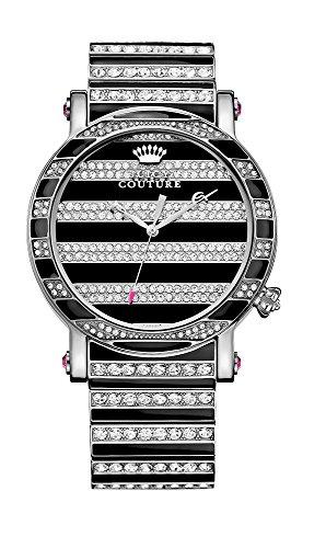 Juicy Couture Orologio da donna con Display analogico e Nero Bracciale in acciaio inox 1901210