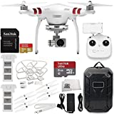 DJI-Phantom-3-Standard-with-27K-Camera-and-3-Axis-Gimbal-Manufacturer-Accessories-Extra-DJI-Battery-Water-Resistant-Hardshell-Backpack-MORE
