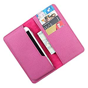 DooDa PU Leather Case Cover For Panasonic P11 (Purple)