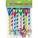 Fancy Fringed Party Blowers, 8 Count