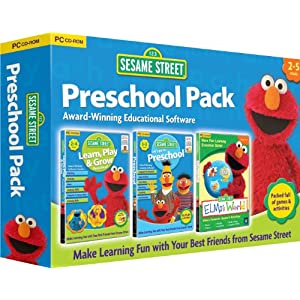 Sesame Street Triple Pack - Includes Learn, Play & Grow, Go To Pre-School, Elmos World (PC/Mac)