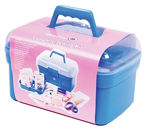 Hemline Boîte à couture deluxe complet et kit d'accessoires pour boîte à aiguilles a2076g001