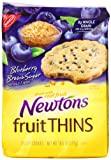 Newtons Fruit Thins, Blueberry Brown Sugar Crispy Cookies, 10.5 Ounce Bag (Pack of 8)