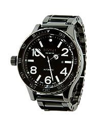 8a65910fb32 Gucci Men s YA126408 G-Timeless Medium Diamond Black Dial Steel ...