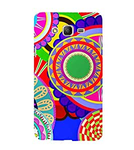 Animated Royal Pattern with lot of Circle 3D Hard Polycarbonate Designer Back Case Cover for Samsung Galaxy On7 :: Samsung Galaxy On 7 G600FY