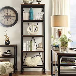 Inspire q nelson decorative modern rustic for B q living room shelves