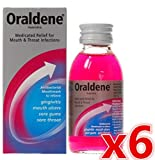 6 x Oraldene® Medicated Mouthwash Mouth Wash for Mouth Ulcers Sore Gum Throat Infection 200ml