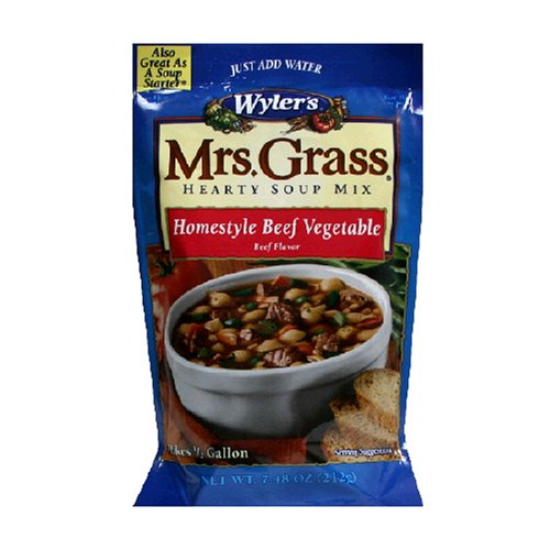 Wyler's Soup Starter Beef Vegetable, 7.48-Ounce Package (Pack of 8)