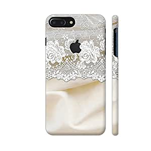 Colorpur Vintage Shabby Chic White Bride Lace On Cream Silk Designer Mobile Phone Case Back Cover For Apple iPhone 7 plus with hole for logo | Artist: UtART